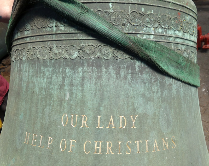 Rosemeadow's bourdon bell has been inscribed before cleaning.