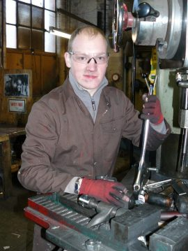Simon Westman at work in the Foundry.