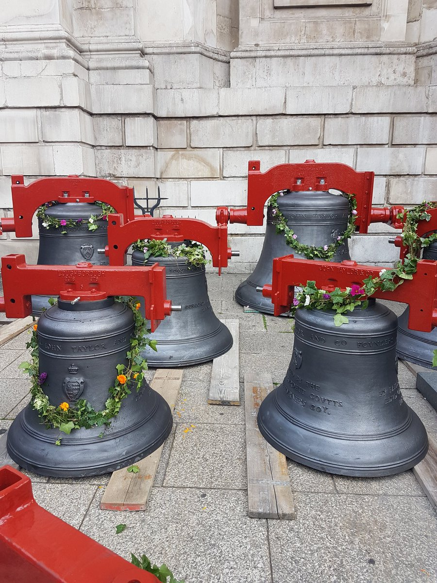 St Paul's bells returned to the Cathedral on 3rd September