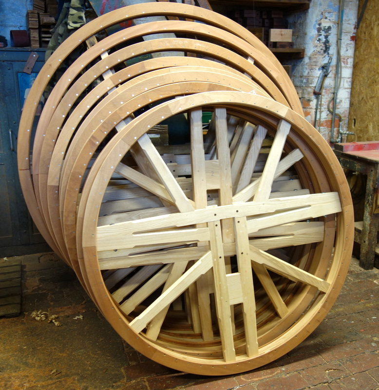 The new hardwood bell wheels have been manufactured.