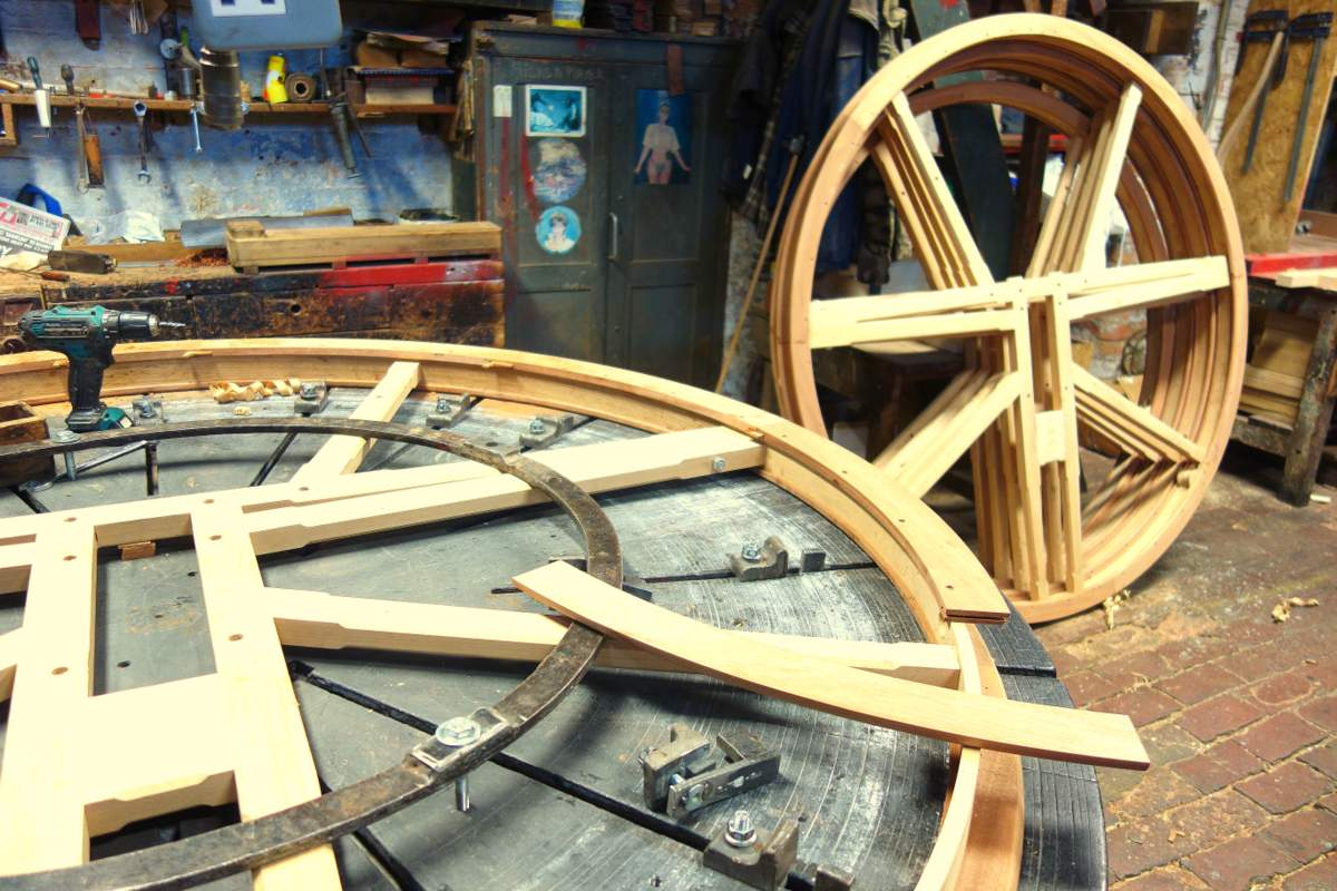 Ruthin's new bell wheels.