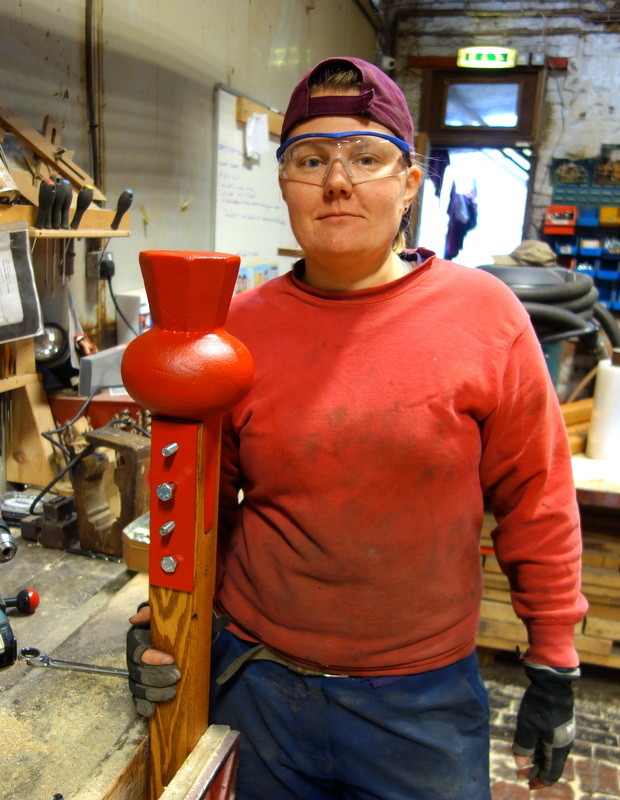 New wooden shafted clappers have been manufactured for the six largest bells.