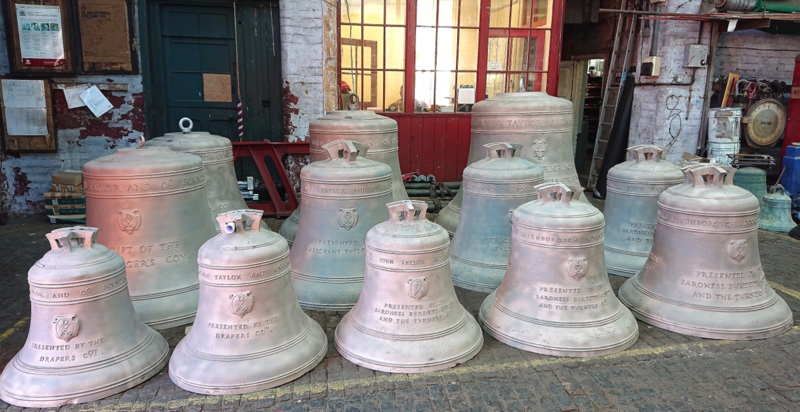 Simon Westman took this photo of the bells on their return from cleaning.