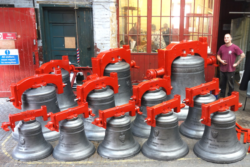 St Paul's ring of twelve ready for dispatch.