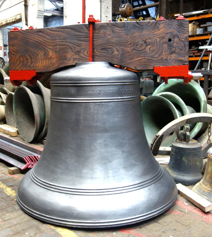 Stapleford's Cemetery Bell and fittings, fully restored and ready for dispatch.