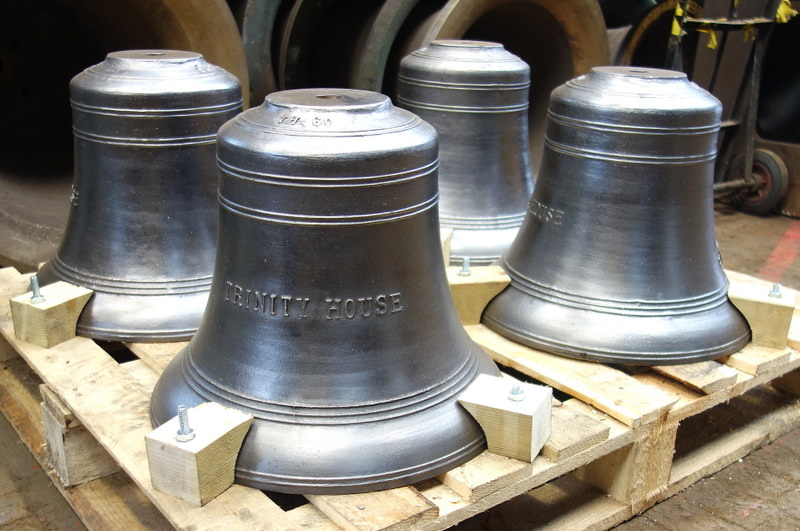 The four new bells ready for dispatch.
