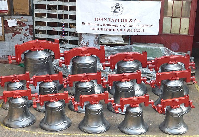 A new ring of bells ready for dispatch.