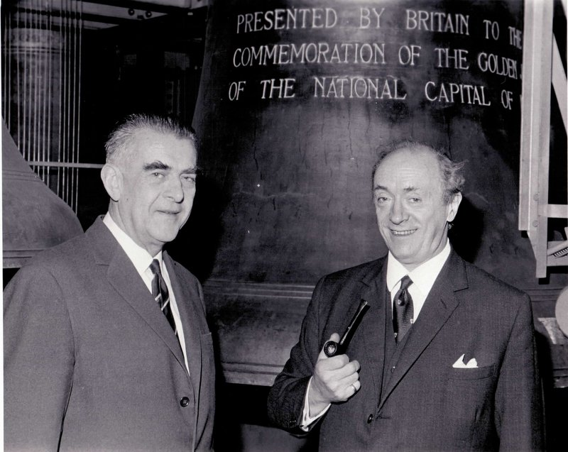 Paul Taylor (Bell Founder) is pictured on the right.