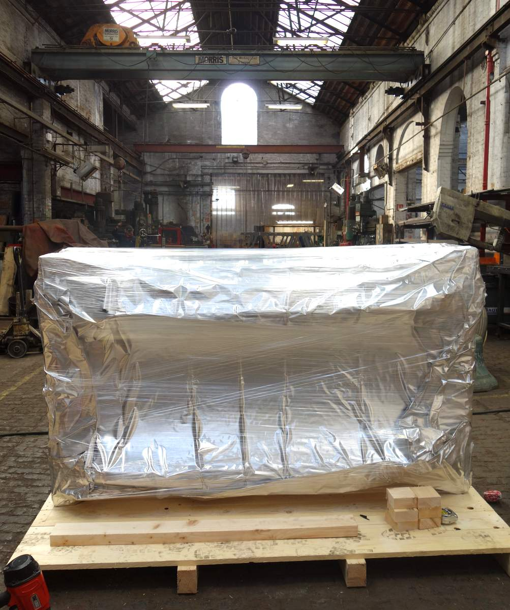 The clavier wrapped and ready for export.