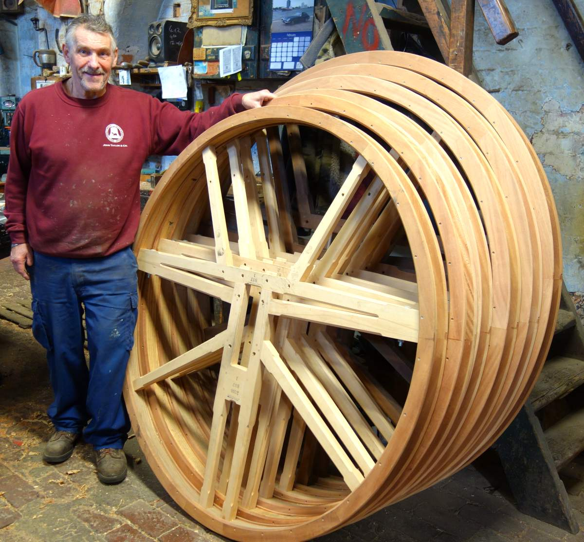 Mick has made numerous sets of bell wheels in more than forty years at Taylors