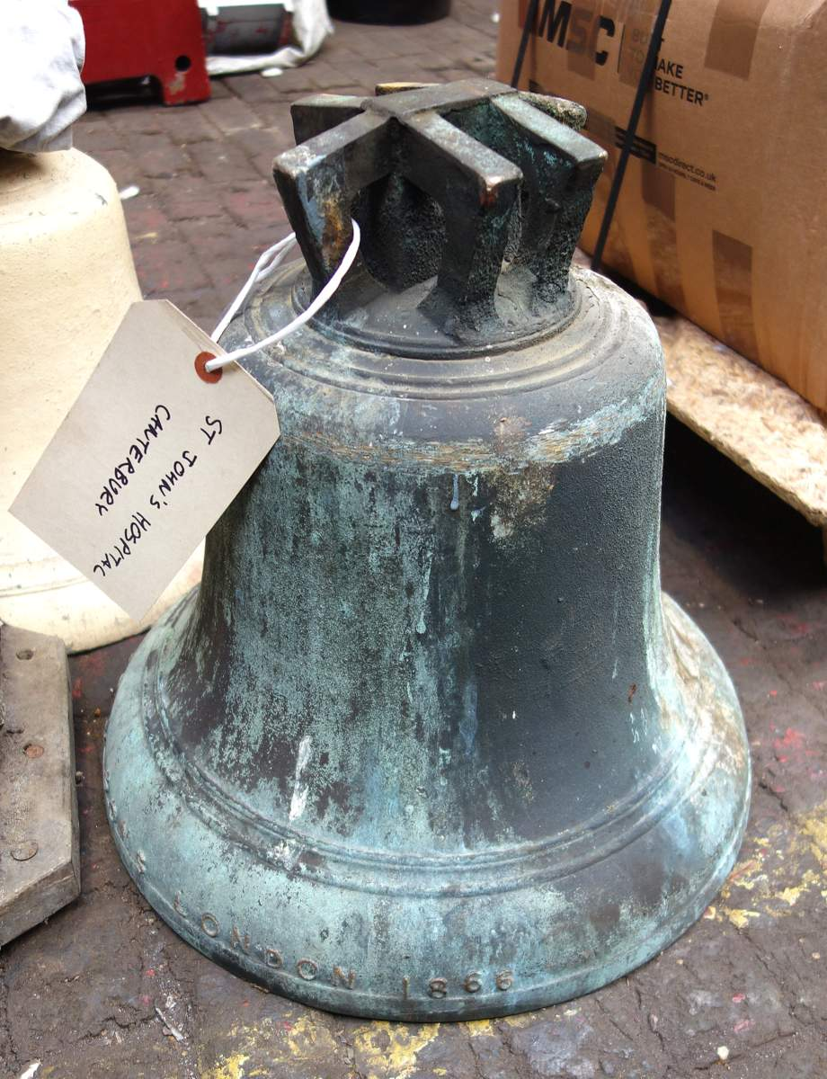 The bell as it arrived.