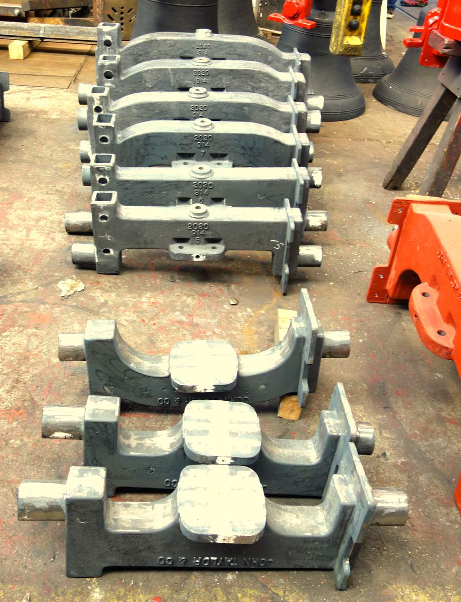 The new headstocks have been cast - gudgeons to be fitted next.