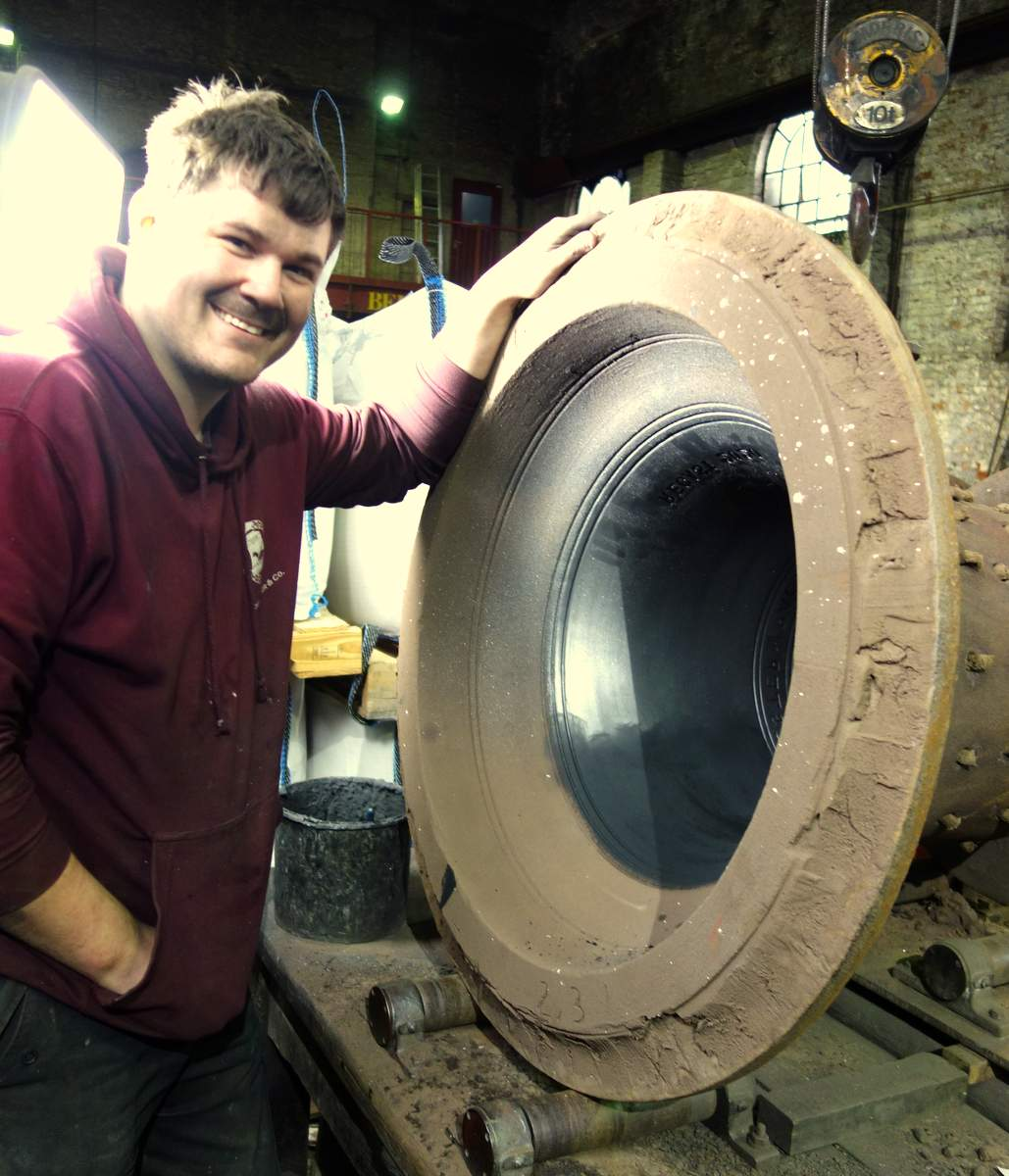 Anthiny prepares the treble bell mould.