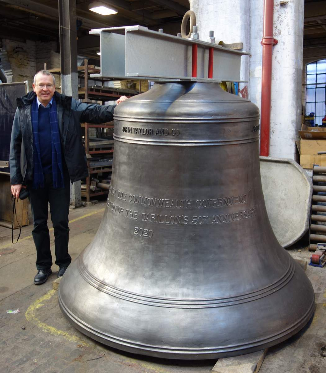 A 5 ton bell for Canberra - Cast 2020.